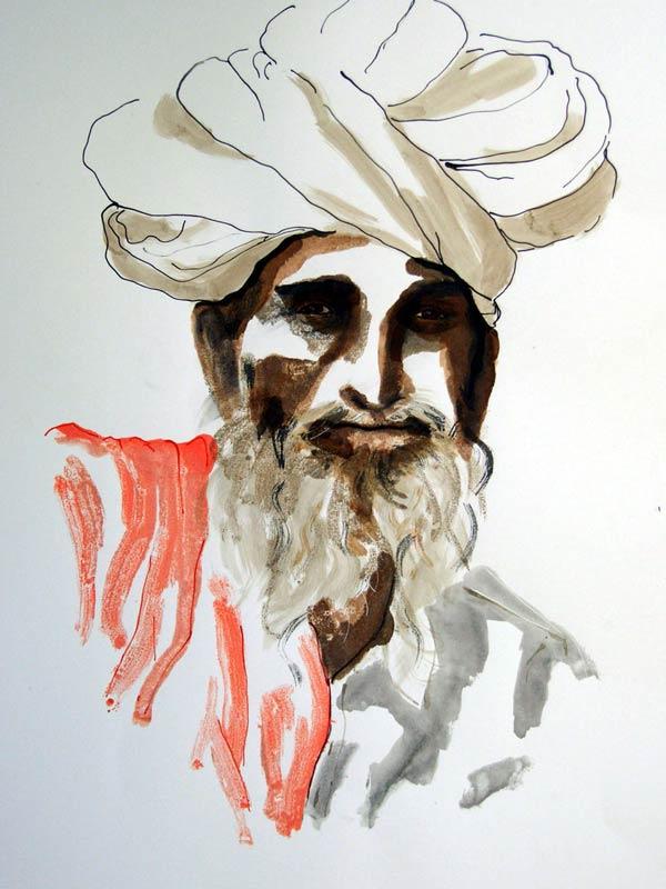 Helen Pakeman 'Rajasthani Elder'