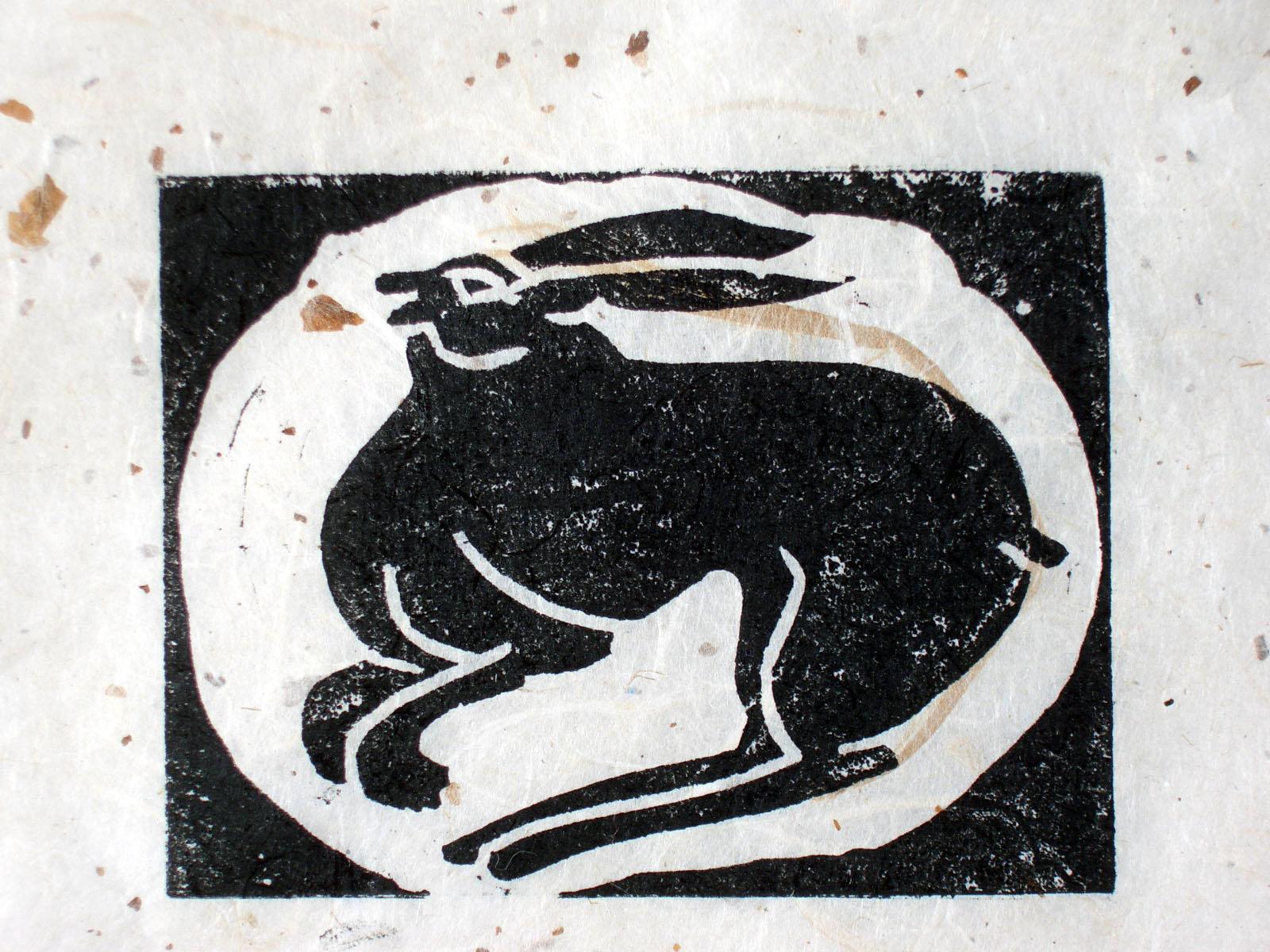 Helen Pakeman 'Nesting Hare 2'