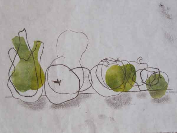 Helen Pakeman 'Fruity-line-up'