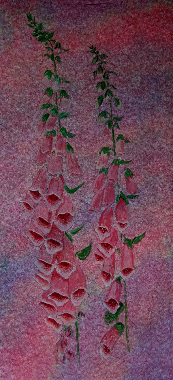 Helen Pakeman 'Foxgloves' painting