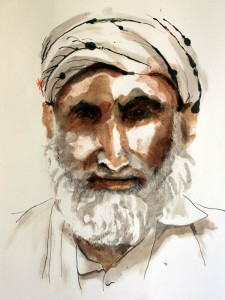 Commissioning Art - Helen Pakeman 'Afghan Old Man