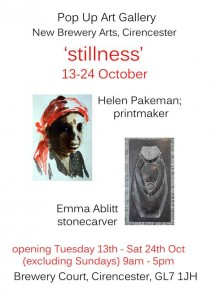 publicity for October Exhibition at CIrencester