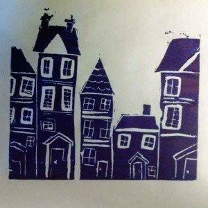 Niamh's-linoprint workshop