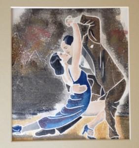 tango in blue dress