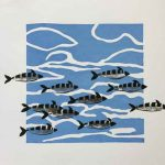 Screenprint of fish